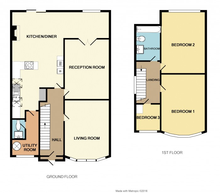 Floorplans For Melton Avenue, Solihull