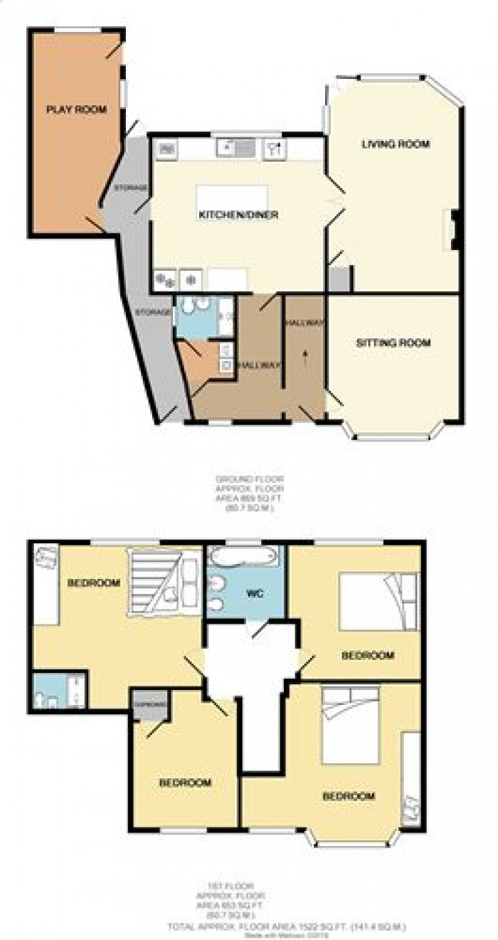 Floorplans For Wentworth Road, Solihull