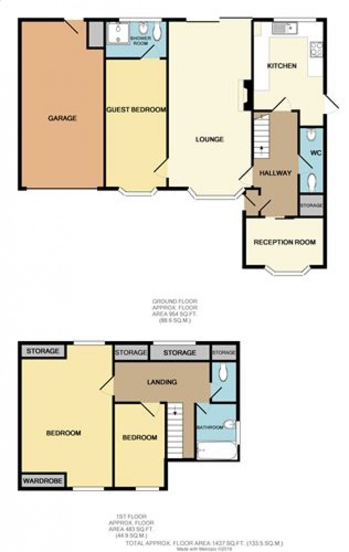 Floorplans For Lyndon Close, Castle Bromwich, Birmingham