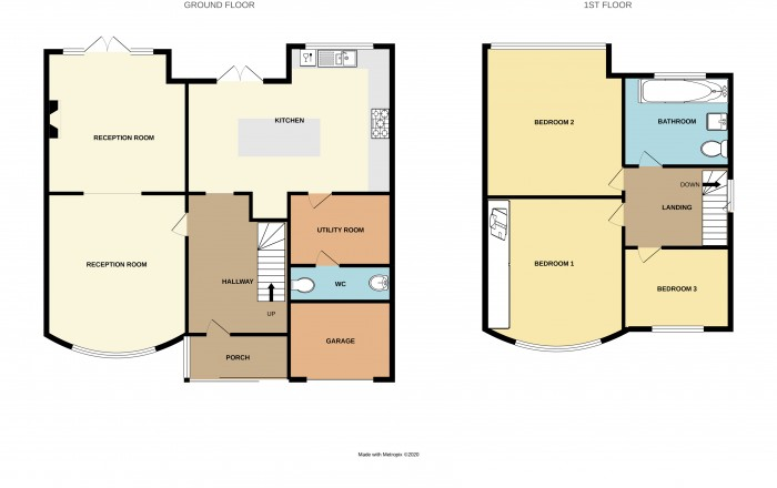 Floorplans For Coniston Avenue, Solihull
