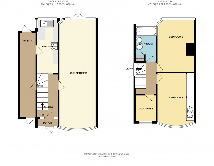Floorplans For Richmond Road, Solihull